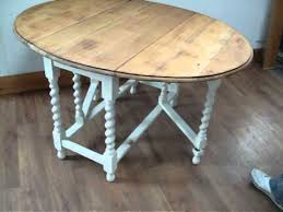 oak topped painted shabby chic dining table youtube
