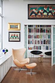 simple home reading space ideas comes with wooden bookshelves from