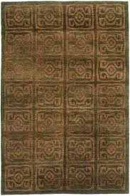 Area Rug Green Tibetan Wool Hand Knotted Area Rug Maya A Rug For All Reasons