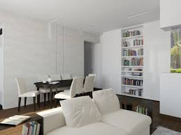 small modern open plan kitchen small modern apartment using the wood to make tons of shelving is