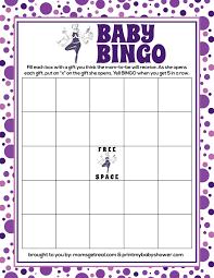 Baby Shower Printable Bingo Photo Baby Shower Bingo Answer Key Image