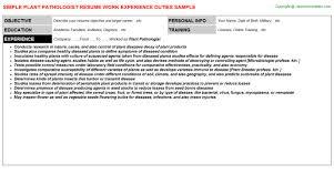 plant pathologist sample resume pathologist resume sales