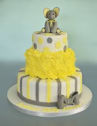 100 2 layer baby shower cakes grey u0026 yellow elephant