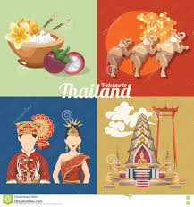 Wyoming Travel Icons images Travel thailand landmarks with colorful elements thai vector jpg
