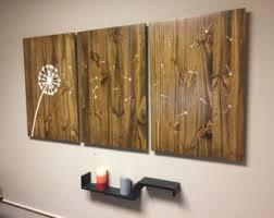 dandelion wood plaques wall dandelion wall decor etsy