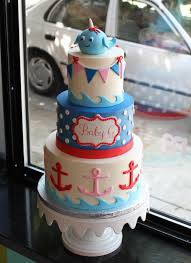 nautical baby shower cakes nautical narwhal baby shower cake bakeshop