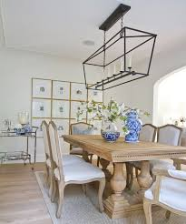 Restoration Hardware Dining Room Chairs Pendant Darlana Linear Pendant Dining Table U0026 Chairs