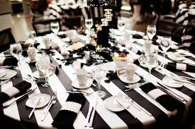 Black And White Striped Chair by Alfred Angelo Black And White Stripe Tablecloths Sashes Chair