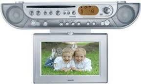 philips ajl700 under cabinet kitchen dvd clock radio with tv tuner