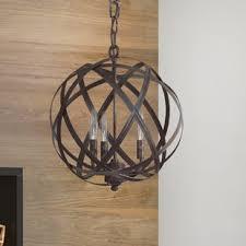 Globe Light Fixtures Globe Pendant Lights You Ll Wayfair