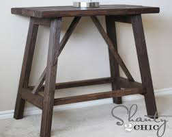 Wood Plans For End Tables by Ana White Truss End Table Diy Projects