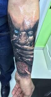 demon and pentagram tattoo tattoos pinterest pentagram