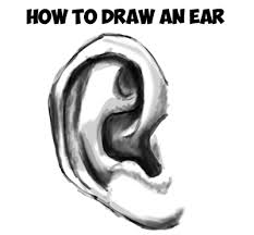 learn how to draw realistic ears by learning how to add shadows to