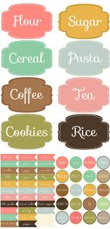 kitchen canister labels diy label projects and free printables the budget decorator
