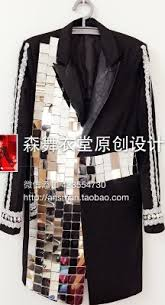 fashion for heavy men 2017 blazer fashion men singer dj gd night club bar mirror heavy