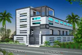 2 Bhk Home Elevation Design With Sqyrds Sqft South Facing House