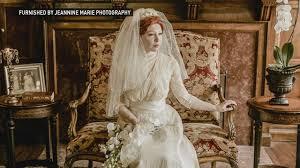 mn bride honors family with wedding dresses dating from 1910 to