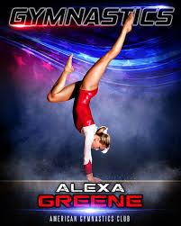 sports poster photo template stars u0026 stripes gymnastics