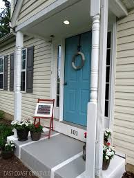 Painted Concrete Porch Pictures by Summer Porch Makeover East Coast Creative Blog