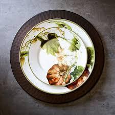 botanical pumpkin dinner plates williams sonoma