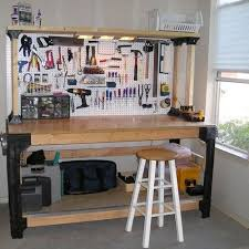 Building Wood Shelves 2x4 by 2x4 Basics Custom Workbench Storage Shelf System Garage Office