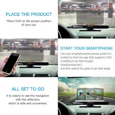 amazon com bzseed head up display car hud phone gps navigation
