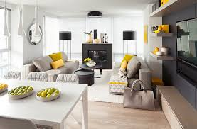 excellent idea grey and yellow living room decor gray rooms photos