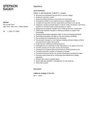 sle java developer resume 2 java developer resume sle velvet resumes experienced ten