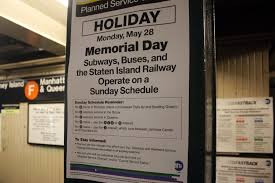 mta weekend and memorial day service changes f and d