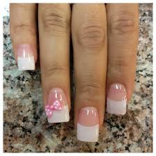 french tip with 3d nail designs tip nails art