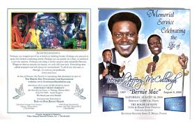 funeral program covers bernie mac s funeral program