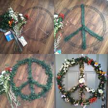 diy christmas peace wreath 32