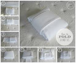 Folding Bed Sheets Enchanting Folding Bed Sheets With How To Fold A Fitted Sheet