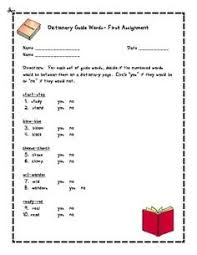 dictionary skills word sort activity cut u0026 paste great for