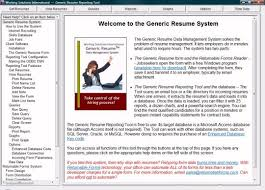 Free Job Seekers Resume Database by Generic Resume System Free Download And Software Reviews Cnet