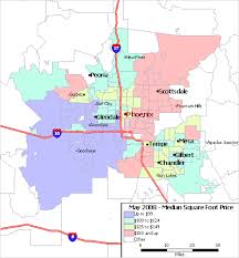 phx map az map of median home price per square