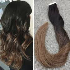 Balayage For Light Brown Hair Seamless Human Hair Tape In Extensions Brown And Blonde Balayage
