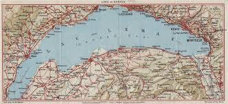 map of montreux lake of geneva lac l montreux lausanne vevy nyon