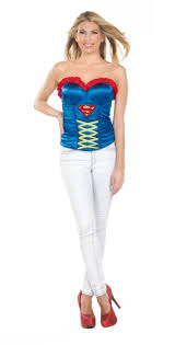 Halloween Costumes Supergirl Cl11 Superhero Hero Corset Bustier Women Fancy Dress