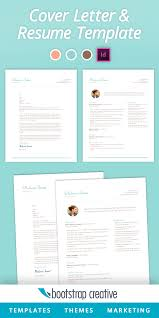 Indesign Resumes Resume And Cover Letter Template Instant Downland Adobe Indesign