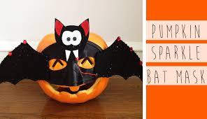 bat mask halloween diy pumpkin sparkle bat mask craft youtube