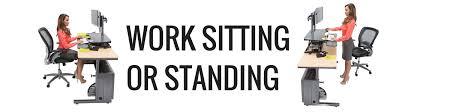versa stand up desk work sitting or standing with versa power desktop versadesk