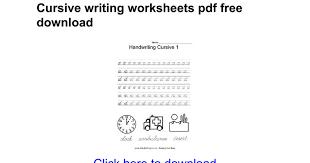 du0027nealian handwriting worksheets pdf d u0027nealian