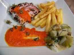 cuisine froide cuisine en folie sauce froide au poivron et câpres frits sur