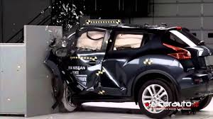 nissan veloster black crash test iihs small overlap nissan juke youtube
