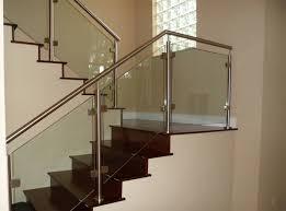 Types Of Banisters Light Oak Glass Stair Railing Types Glass Stair Railing