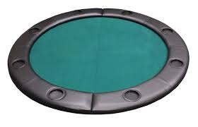 folding poker tables for sale padded round folding poker table top w cup holders green p 622