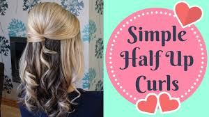 quick half up half down curly updo prom wedding hairstyle youtube