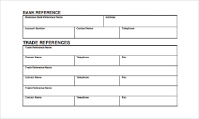 trade reference template 15 free samples examples format