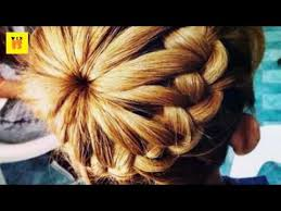 howtododoughnut plait in hair never ending french braid bun ideas how to make youtube
